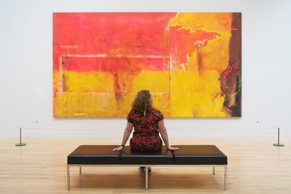 Late at Tate Britain: Passage - Installation view, Frank Bowling at Tate Britain. Tate Photography, Matt Greenwood