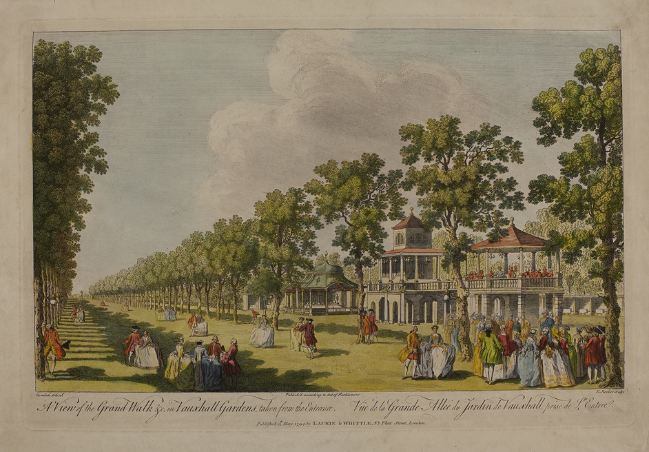 Two Last Nights! Show Business in Georgian Britain - Edward Rooker, A View of the Grand Wall at Vauxhall Gardens, 1794 © Gerald Coke Handel Foundation