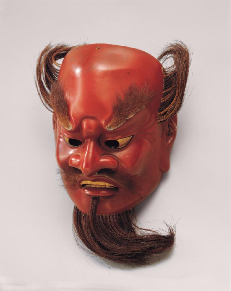 Nara: sacred images from early Japan - Bugaku mask, late 1100s, lacquered wood, Kasuga Taisha shrine, Important Cultural Property Photo courtesy of Kasuga Taisha Shrine
