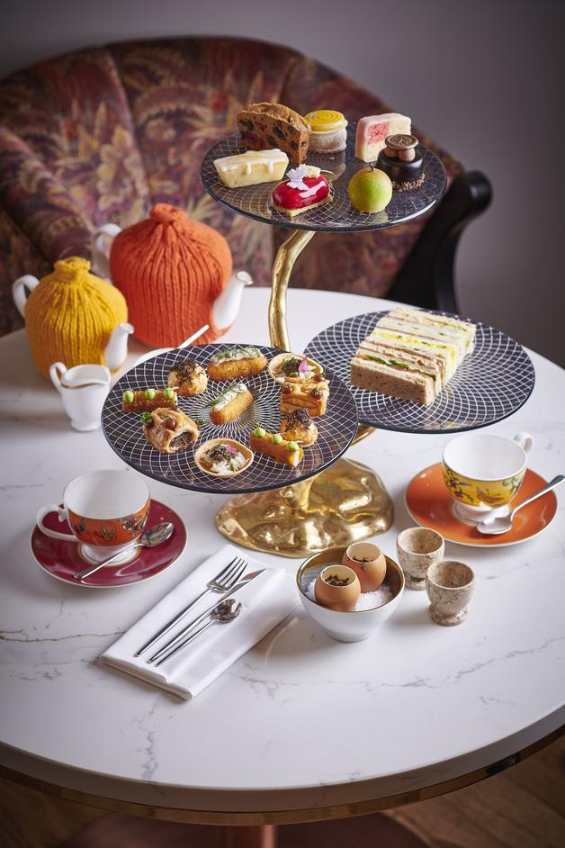 Afternoon Tea at Cadogan's by Adam Handling - Cadogan's by Adam Handling celebrates the new Matthew Williamson range from Newby Teas, Afternoon Tea Week, August 2019, photo: Tim Green