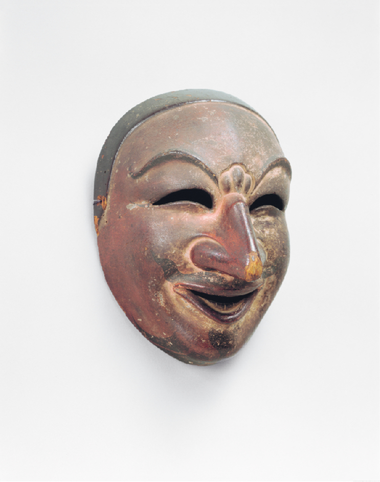 Nara: sacred images from early Japan - Bugaku mask, late 1100s, lacquered wood, Kasuga Taisha shrine, Important Cultural Property Photo courtesy of Kasuga Taisha Shrine