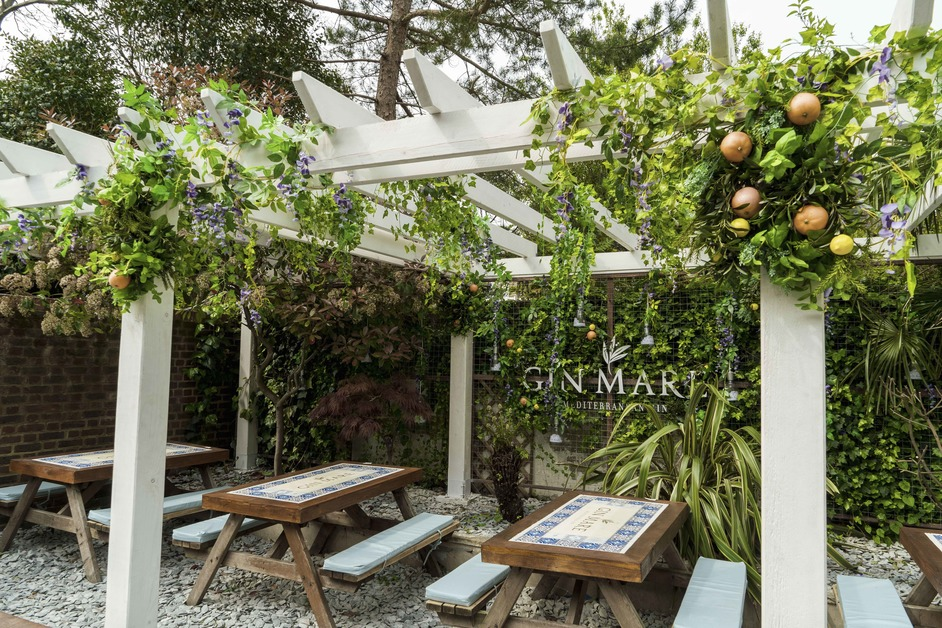 The Red Lion & Sun - Gin Mare Mediterranean Garden, Red Lion and Sun, summer 2019