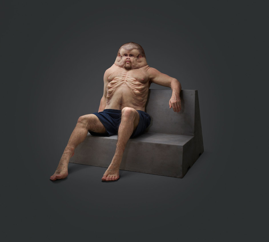 Cars: Accelerating the Modern World - Graham is a recent project by Patricia Piccinini in collaboration with the Transport Accident Commission in Australia, 2016 ©Transport Accident Commission