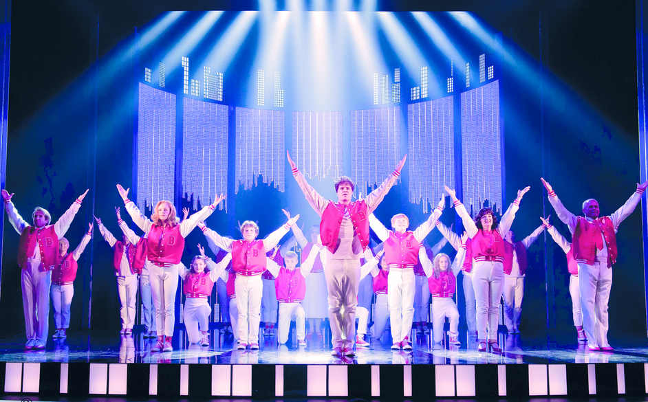 Big the Musical - Jay McGuiness (centre) as Josh Baskin in Theatre Royal Plymouth production of BIG, photo: Alastair Muir