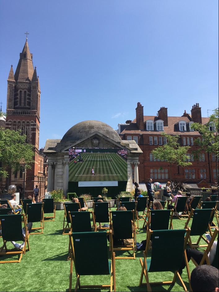 Wimbledon at Brown Hart Gardens