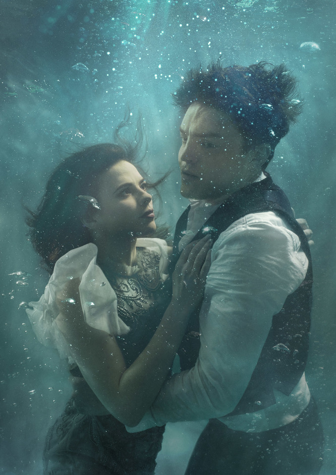 Rosmersholm - Hayley Atwell and Tom Burke in Rosmersholm. Photography Stuart Chorley. Design Bob King Creative
