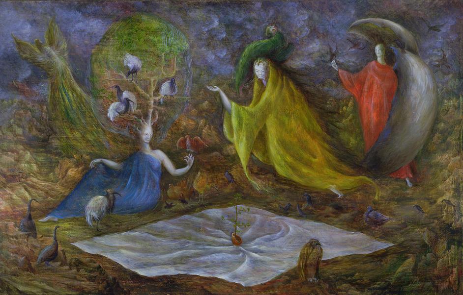 British Surrealism: 1783-1952 - Leonora Carrington, The Pomps of the Subsoil, 1947, © Estate of Leonora Carrington / ARS, NY and DACS, London 2019, UEA 28. Sainsbury Centre for Visual Arts, University of East Anglia. Photographer: James Austin