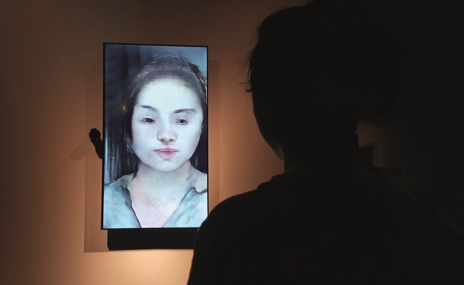 AI: More Than Human - Uncanny Mirror, Mario Klingemann, 2018. Media City Biennale Seoul, 2018
