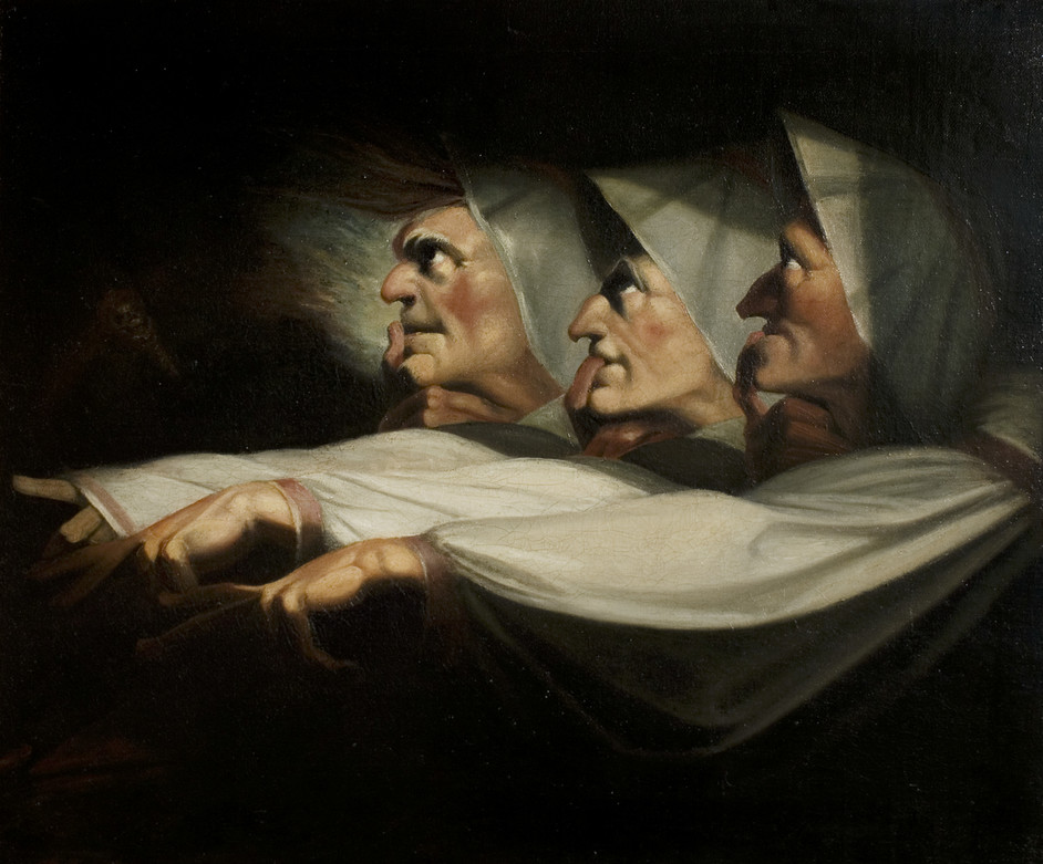British Surrealism: 1783-1952 - Henry Fuseli, The Weird Sisters, Macbeth, by Henry Fuseli, c.1783, RSC Theatre Collection