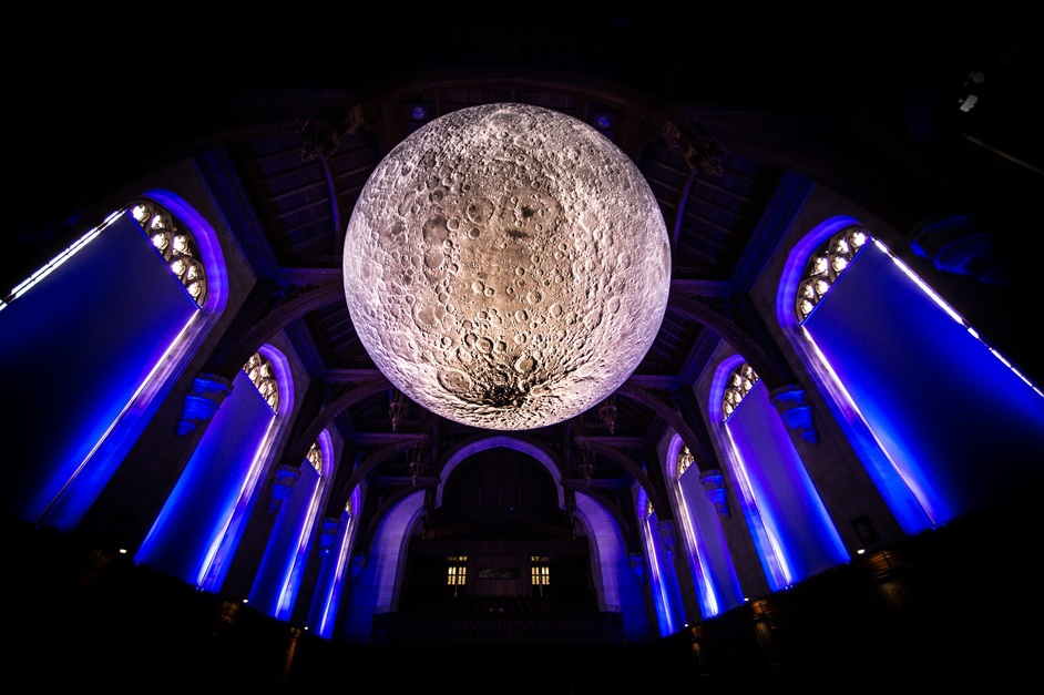 Museum of the Moon - Museum of the Moon at University of Bristol UK, photo: Simon Galloway, SWNS