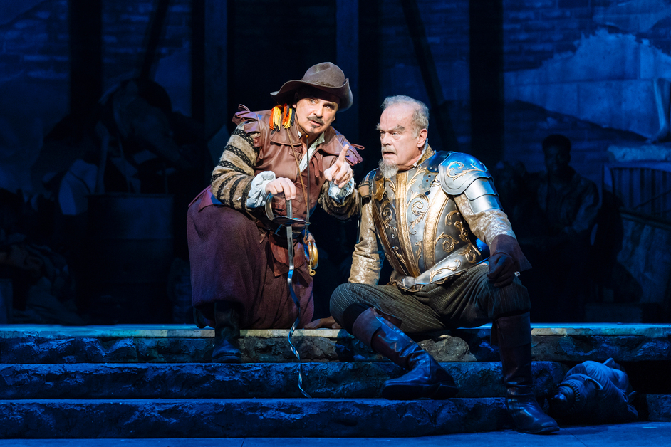Man of La Mancha - Peter Polycarpou as Sancho Panza, Kelsey Grammer as Don Quixote in Man of La Mancha