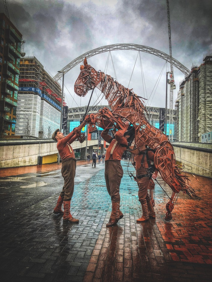 War Horse - War Horse at Wembley Park. Photo: National Theatre