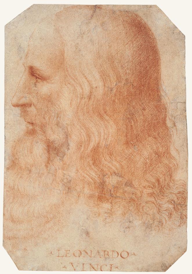 Leonardo da Vinci: A Life In Drawing - Attributed to Francesco Melzi. A portrait of Leonardo in profile c.1515-18. Photo: Royal Collection Trust (c) Her Majesty Queen Elizabeth II, 2019