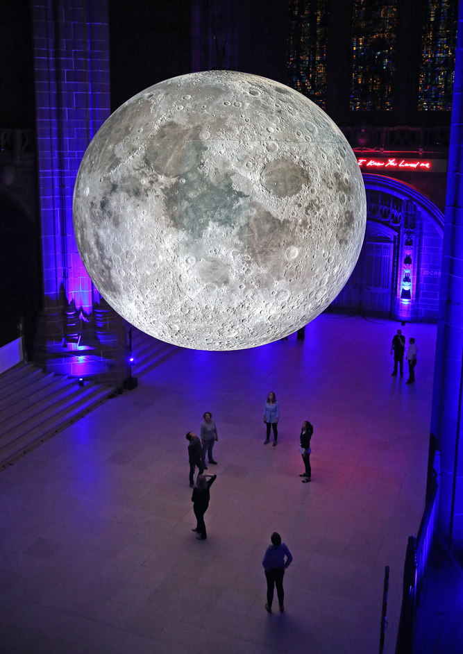 Museum of the Moon - Museum of the Moon at Culture Liverpool, photo: Gareth Jones at Liverpool Cathedral