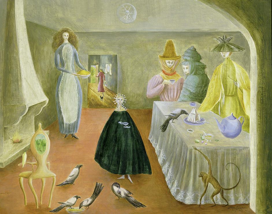 British Surrealism: 1783-1952 - Leonora Carrington, The Old Maids, 1947, © Estate of Leonora Carrington / ARS, NY and DACS, London 2019, UEA 27. Sainsbury Centre for Visual Arts, University of East Anglia. Photographer: James Austin
