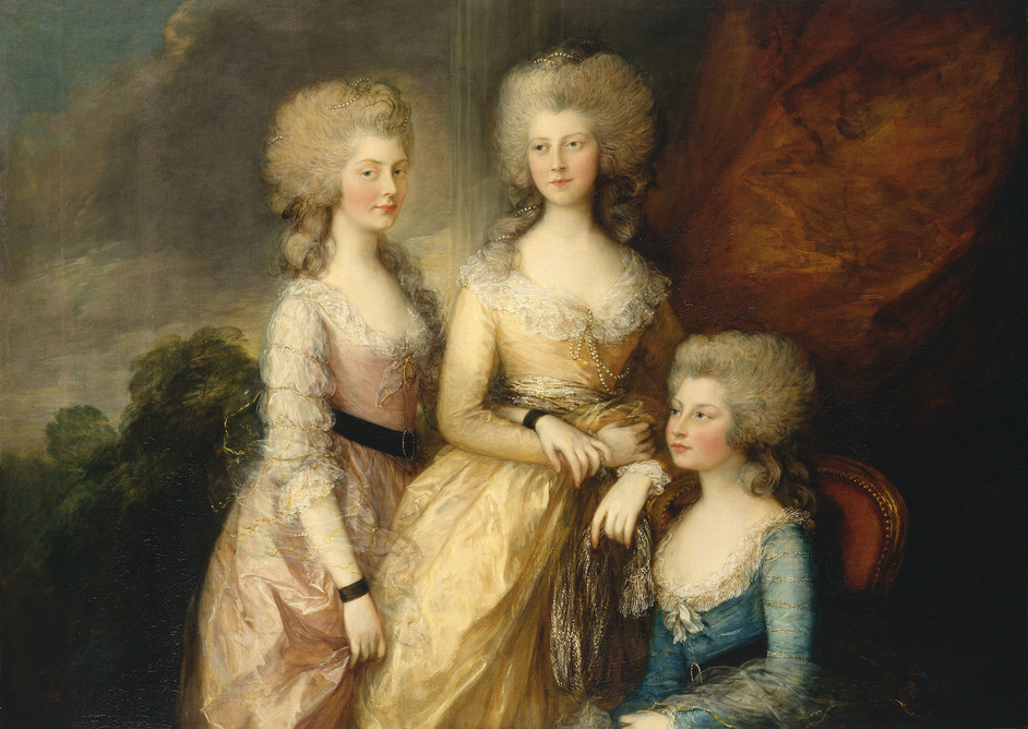 George IV: Art & Spectacle - Thomas Gainsborough, The Three Eldest Princesses: Charlotte, Princess Royal, Augusta and Elizabeth, 1783-84. Photo: Royal Collection Trust / (c) Her Majesty Queen Elizabeth II 2019