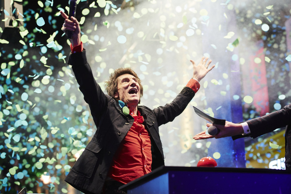 Carnaby Christmas Lights and Shopping Party - The Rolling Stones guitarist Ronnie Wood switching on the Carnaby Christmas Lights, 2019