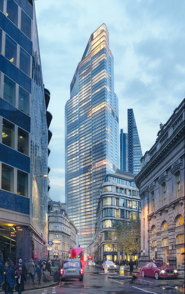 22 Bishopsgate - View from Bank - Threadneedle Street - photo: Walk the Room