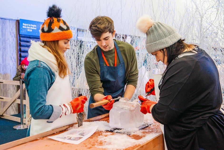Hyde Park Winter Wonderland - Ice Sculpting Workshop © IMG 2018, Carolina Faruolo / Fanatic