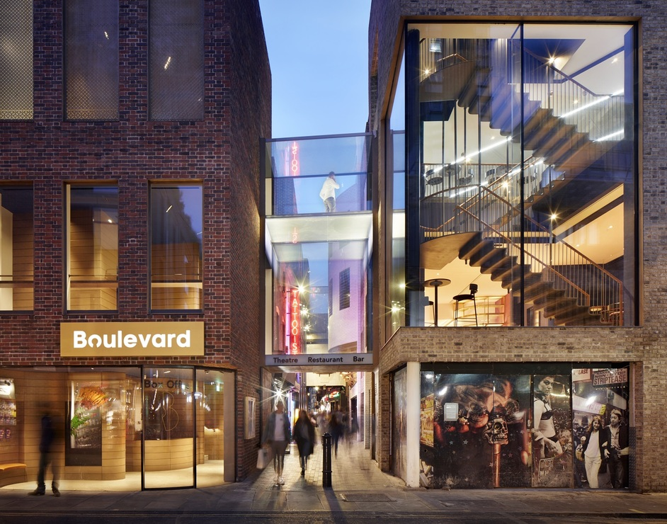Boulevard Theatre - Boulevard Theatre, Walkers Court Exterior, SODA Studio. Photo: Jack Hobhouse