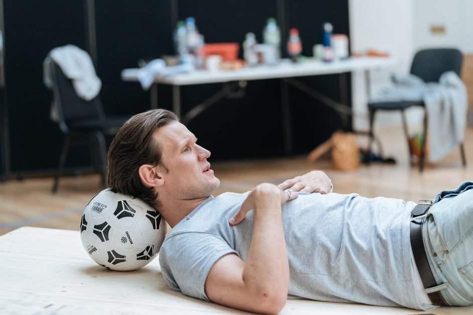Lungs - Matt Smith in rehearsals at the Old Vic, photo: Manuel Harlan