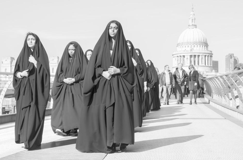 Fujifilm: My Life Exhibition - International Women's Day, captured in passing on the Millennium bridge, by Jeff Sofroniou