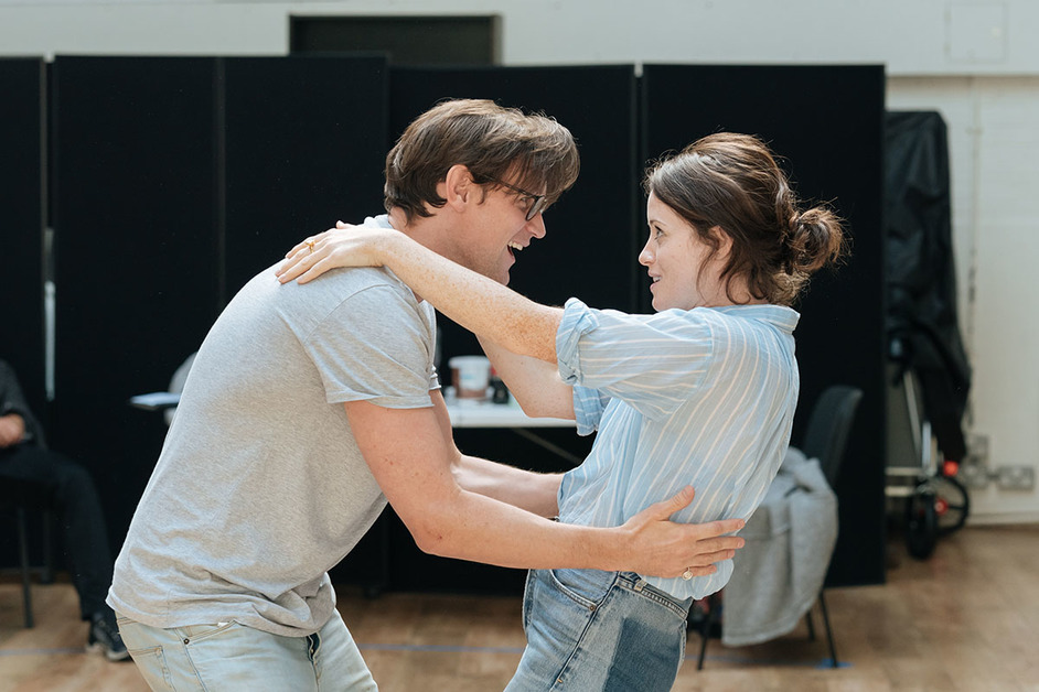 Lungs - Matt Smith and Claire Foy in rehearsals at the Old Vic, photo: Manuel Harlan