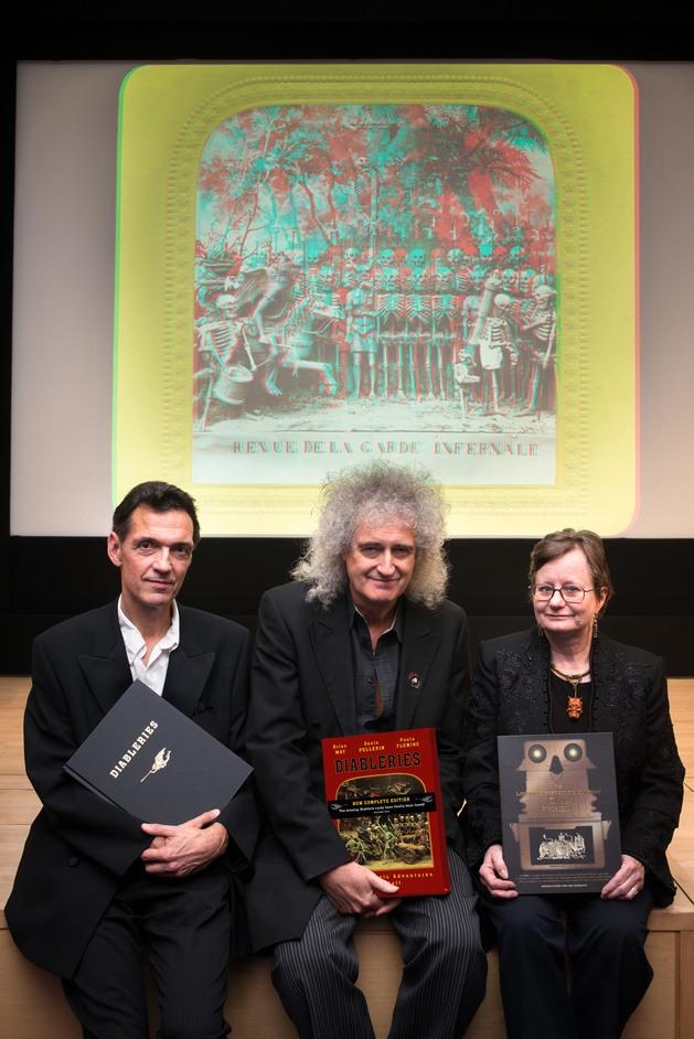 Brian May's Halloween Exhibition - Denis Pellerin, Brian May and Paula Fleming