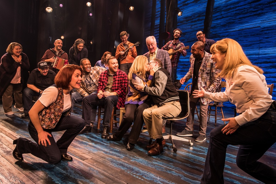 Come From Away - The West End company in Come From Away at the Phoenix Theatre, photo: Matthew Murphy