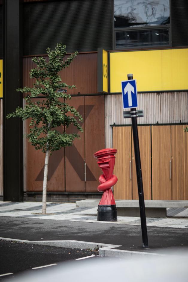 Alphabetti Spaghetti - Alex Chinneck - Alphabetti Spaghetti - Caxton Works. Photo: Marc Wilmot