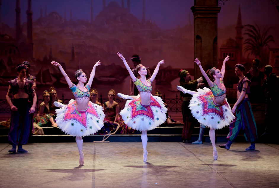 English National Ballet: Le Corsaire - Crystal Costa, Alison McWhinney and Isabelle Brouwers in Le Corsaire © Laurent Liotardo