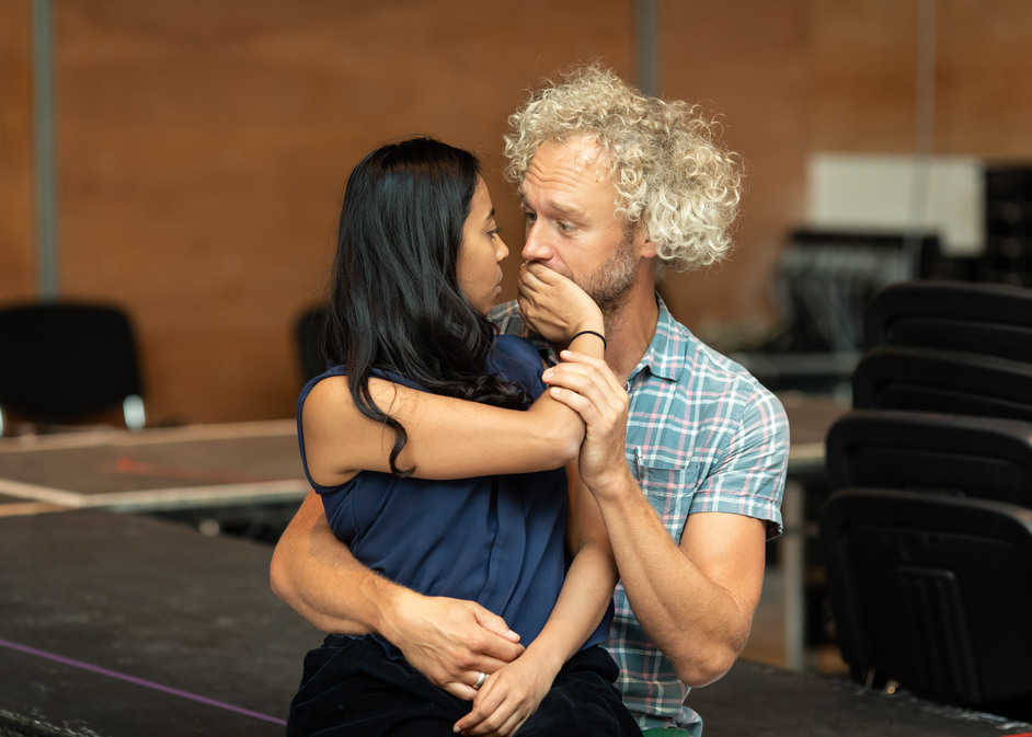 A Doll's House - Anjana Vasan and Elliot Cowan in rehearsals for A Doll's House, photo: Helen Maybanks