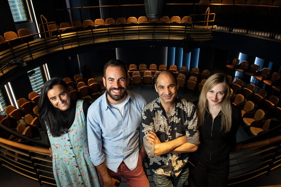 Boulevard Theatre - The cast of Ghost Quartet, opening production at the Boulevard Theatre, 24th October 2019. Photo: Helen Maybanks