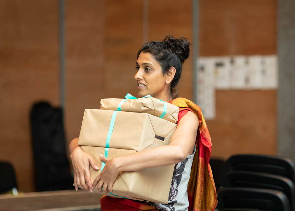 A Doll's House - Arinder Sadhra in rehearsals for A Doll's House, photo: Helen Maybanks