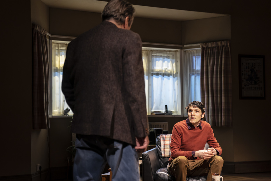 A Number - Roger Allam and Colin Morgan, A Number at the Bridge Theatre, photo: Johan Persson
