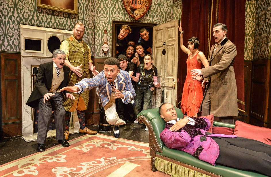 The Play That Goes Wrong - The Company of The Play That Goes Wrong at the Duchess Theatre. Photo: Robert Day
