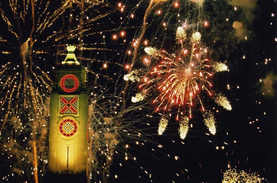 Oxo Tower Restaurant - Oxo Tower, fireworks at Lord Mayor's Show