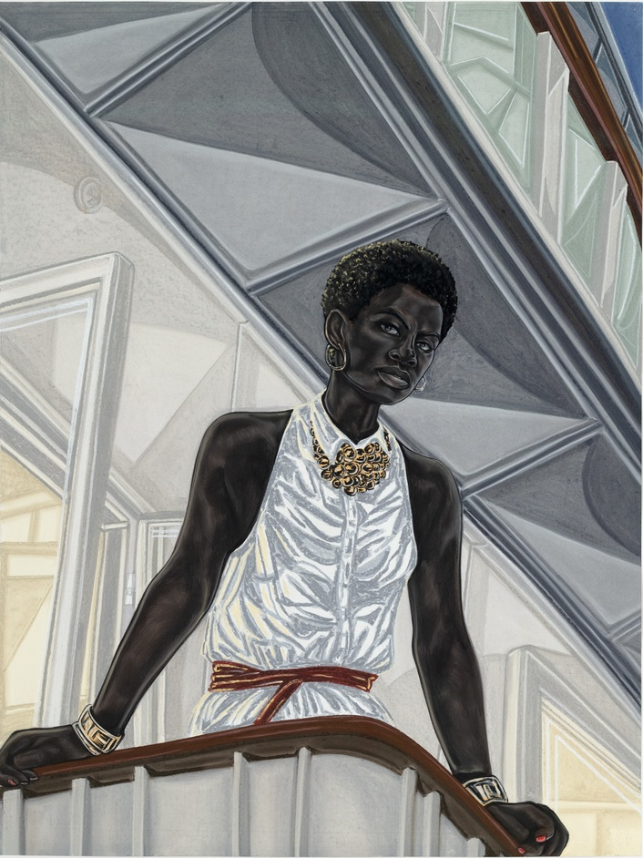Toyin Ojih Odutola: A Countervailing Theory - Toyin Ojih Odutola Anchor (2018) © Toyin Ojih Odutola. Courtesy of the artist and Jack Shainman Gallery, New York