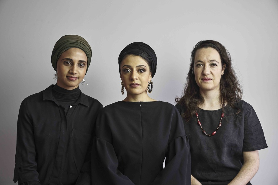 Serpentine Pavilion 2020: Counterspace - Amina Kaskar, Sumayya Vally and Sarah de Villiers of Counterspace. Photo: Justice Mukheli in Johannesburg, 2020 © Counterspace