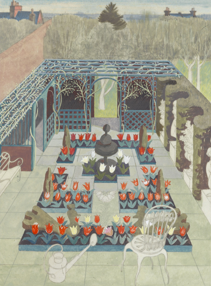 Sanctuary: Artist-Gardeners 1919-1939 - Dorothy Mahoney, ne?e Bishop (1902-1984) Walled Garden, early 1950s. Image courtesy of Liss Llewellyn