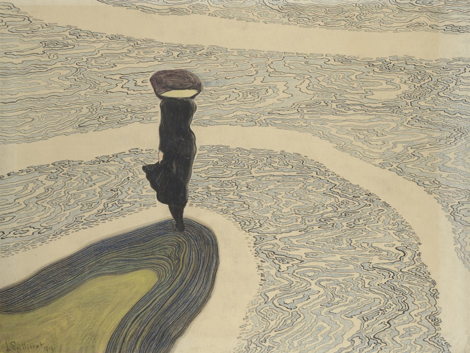 Leon Spilliaert - Leon Spilliaert, Woman at the Shoreline, 1910. Private collection. Photo © Cedric Verhelst