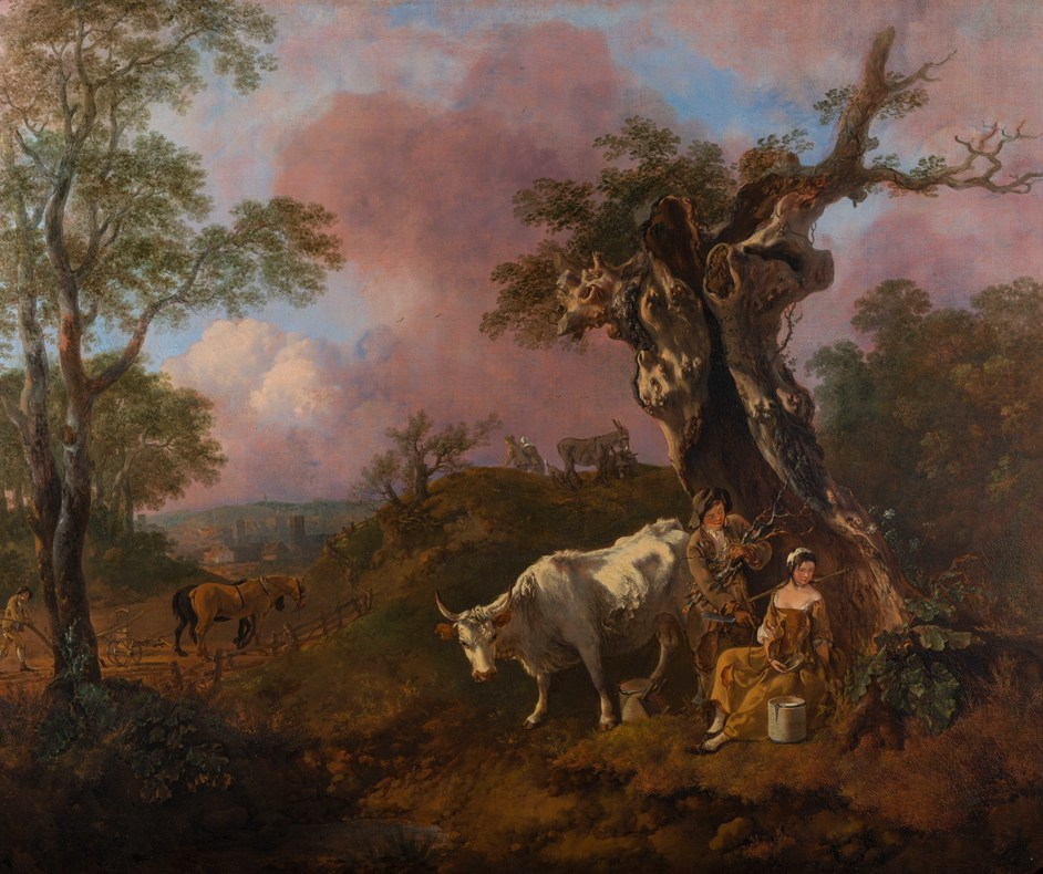 Woburn Treasures - Woodcutter and Milk Maid by Thomas Gainsborough. Credit_ From the Woburn Abbey Collection