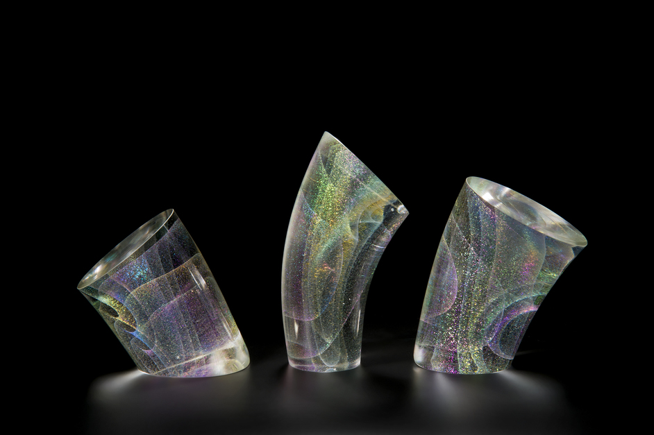 International Art Fair for Modern Craft & Design: Collect 2020 - Kaja Upelj, QEST - Subtle Flow Group Glass 2018