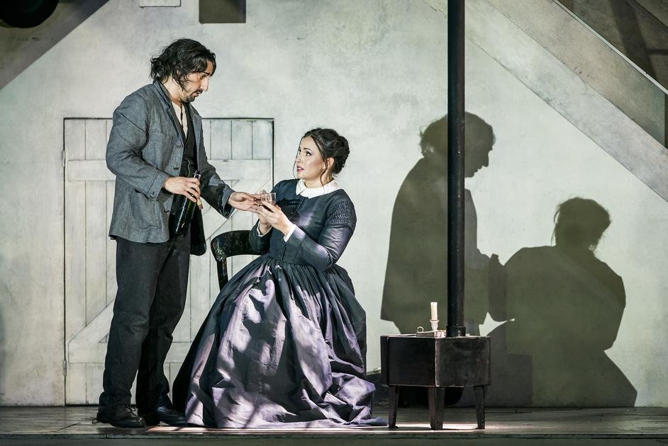 Royal Opera: La Boheme - Castronovo as Rodolfo and Yoncheva as Mimi © ROH 2020. Photo: Tristram Kenton