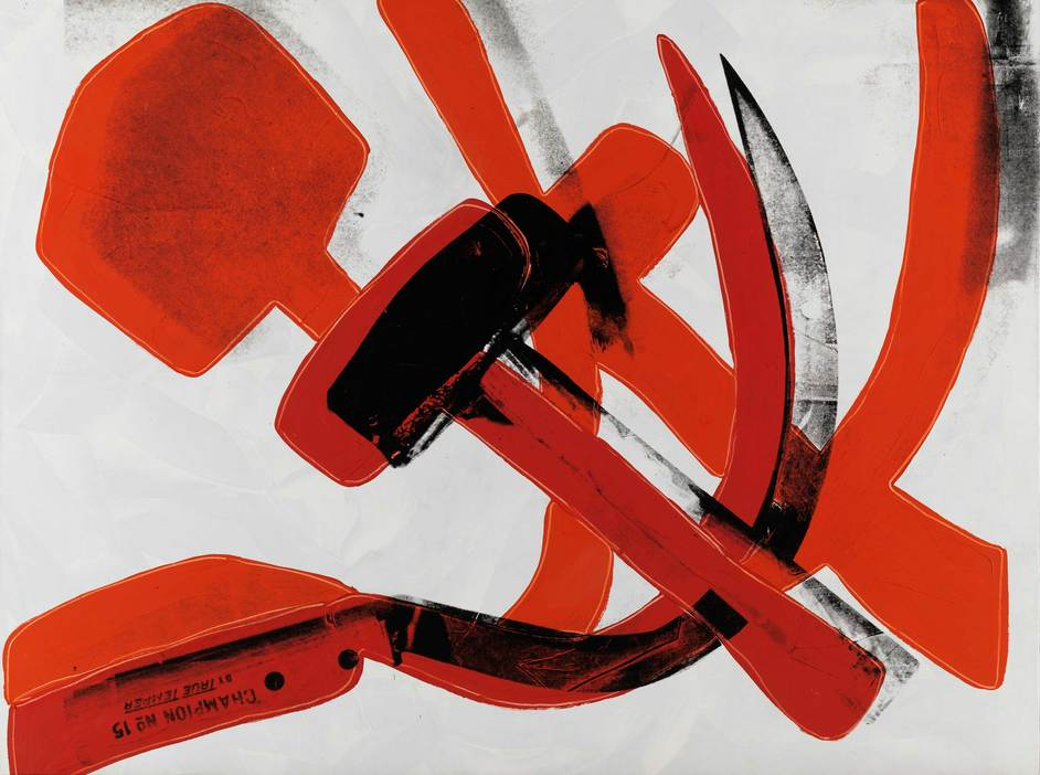 Andy Warhol - Andy Warhol, Hammer and Sickle 1976, Museum Brandhorst © 2019 The Andy Warhol Foundation for the Visual Arts, Inc / Artists Right Society (ARS), New York and DACS, London